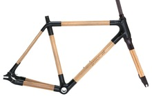 Road bike carbon frame / front fork Bamboo frame / front fork Frame / front fork accessories Single speed bike FRAME