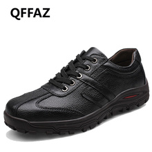 QFFAZ Brand Size 38-48 Fashion Handmade Brand Genuine leather men Flats,Soft leather men Male Moccasins,High Quality Men Shoes