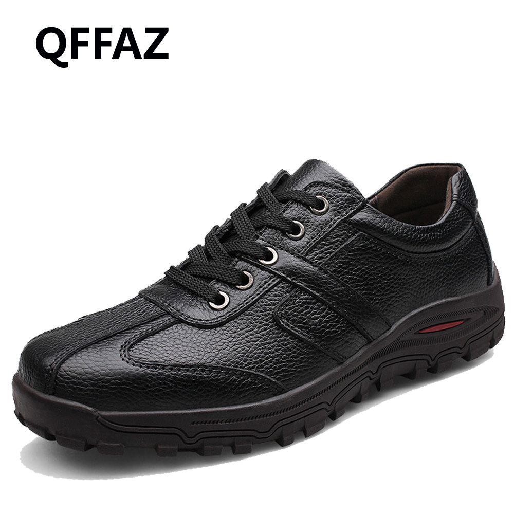 QFFAZ Brand Size 38-48 Fashion Handmade Brand Genuine leather men Flats,Soft leather men Male Moccasins,High Quality Men Shoes cbjsho brand men shoes 2017 new genuine leather moccasins comfortable men loafers luxury men s flats men casual shoes