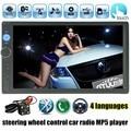 Автомобиль видео плеер 7 Дюймов 2 din Двойной Дин В Тире сенсорный Экран Bluetooth с камеры заднего вида Автомобиля Стерео FM MP4 MP5 радио