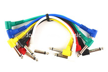 """Niko 6 Pack Colorful Electric Guitar Cables 8"""" 1/4 Right Angle Effect Pedal Patch Cord Free Shipping Wholesales"""