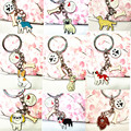 A variety of pet key button, send a friend's birthday gift, fashion jewelry, Christmas gift, the popular key chain