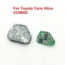 Coche de Control Remoto Clave Fit para Toyota 2, 3, 4 Botones Clave Remoto 433 MHz, para Toyota RAV4 COROLLA CAMRY YARIS HILUX