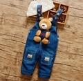 2016 новое прибытие детские джинсы брюки детские мультфильм джинсовые любовь медведь дизайн