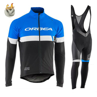 ORBEA Team 2017 Winter Thermal Fleece Quick Dry Cycling Jersey Set Outdoor Sport Coat Clothing Bib