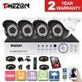 Tmezon 4ch 1080 p ahd dvr 4 unids 2.0mp cámara principal de vigilancia de seguridad cctv sistema al aire libre auto-visión nocturna cam 1 tb 2 tb conjunto