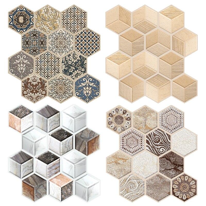 30*30cm Polygon PVC Self Adhesive 3D Wallpaper Home Decor Brick Pattern Waterproof Wall Paper Bedroom Living Room