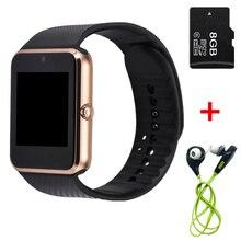 2016 neueste heißer verkauf smart watch gt08 uhr sync notifier unterstützung sim tf karte konnektivität apple iphone android telefon smartwatch