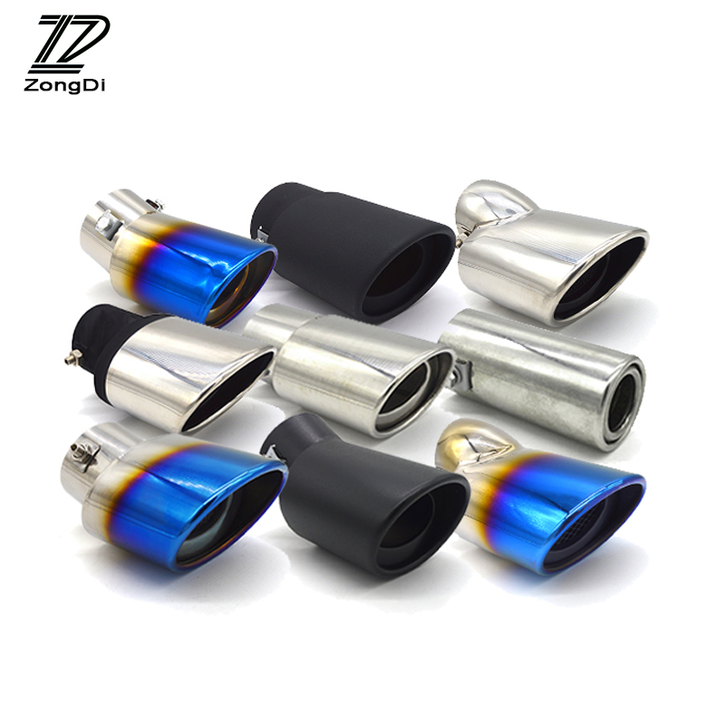 Universal Chrome Stainless Steel Car Exhaust Tip pipe For VW Buick Toyota Peugeot Fiat Honda Suzuki Subaru Mitsubishi Renault exhaust tips on jaguar xe
