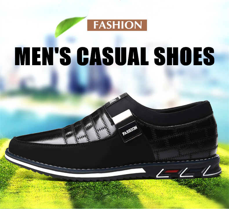 Genuine Leather Men Casual Shoes Brand