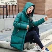 Winter jacket parkas 2019 women Korean cotton padded ladies wild color hooded jackets coat women's thick down warm bread coat
