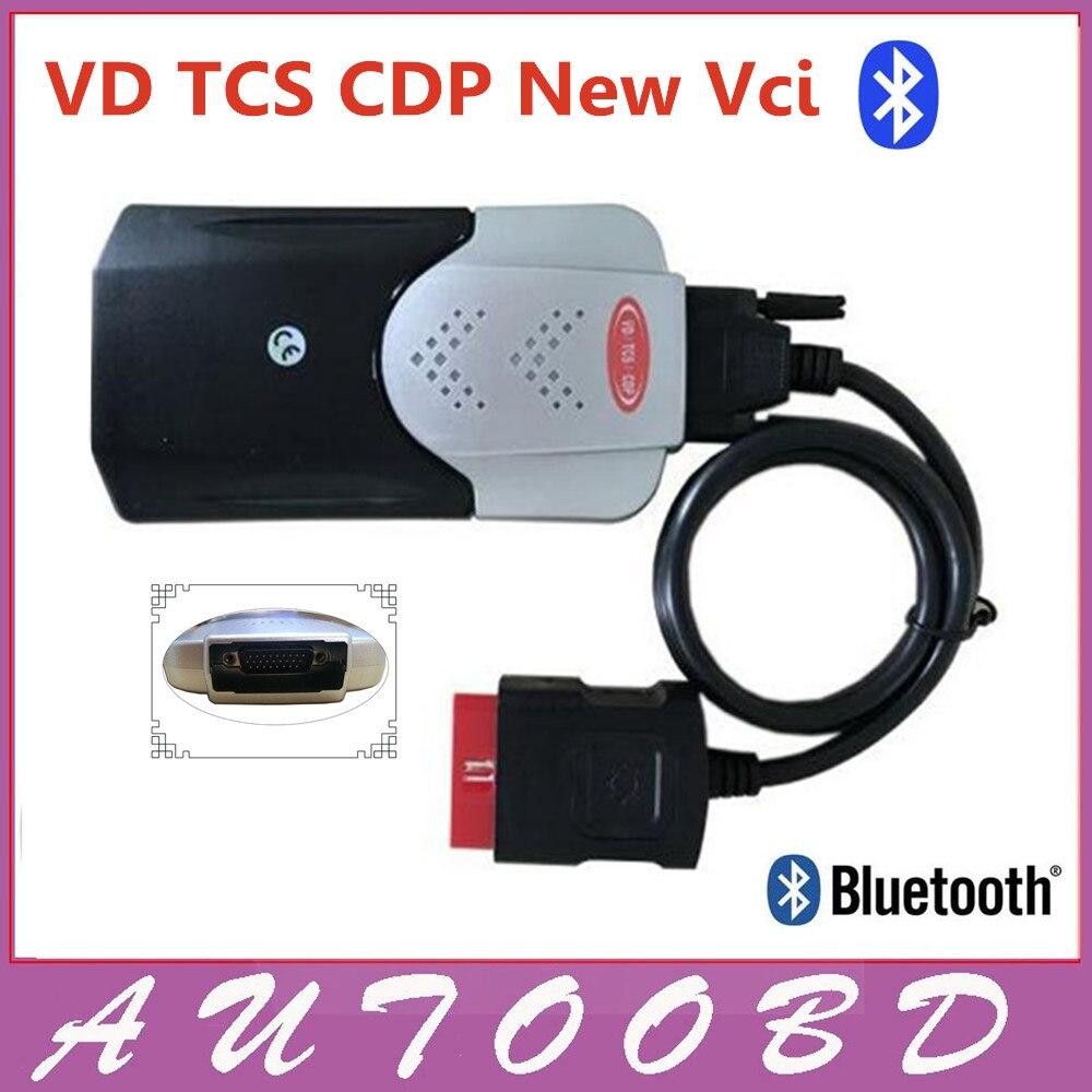 Новый Vci (2015 R3 Серийник CD) В. Д. TCS CDP Pro с Bluetooth Диагностический инструмент для Автомобилей Автомобили/Грузовики OBD2 Сканер Один Год Гарантии