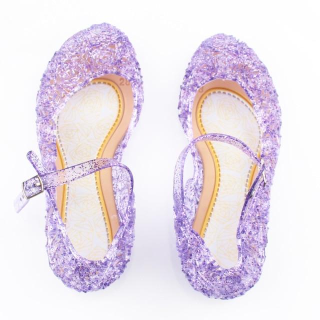 Ice Snow Shoes Elsa Crystal Shoes Cinderella Girls Princess Shoes Children 5