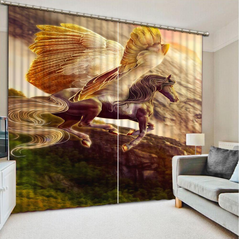 Personnaliser cheval photo rideaux 3d rideaux pour salon chambre impression rideaux occultants