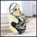 Frete grátis 1 pcs lovely girl acrílico Acessórios de Moda dos desenhos animados Broche Pin Collar broche de Presente Da Jóia, de pano de Estimação, 697