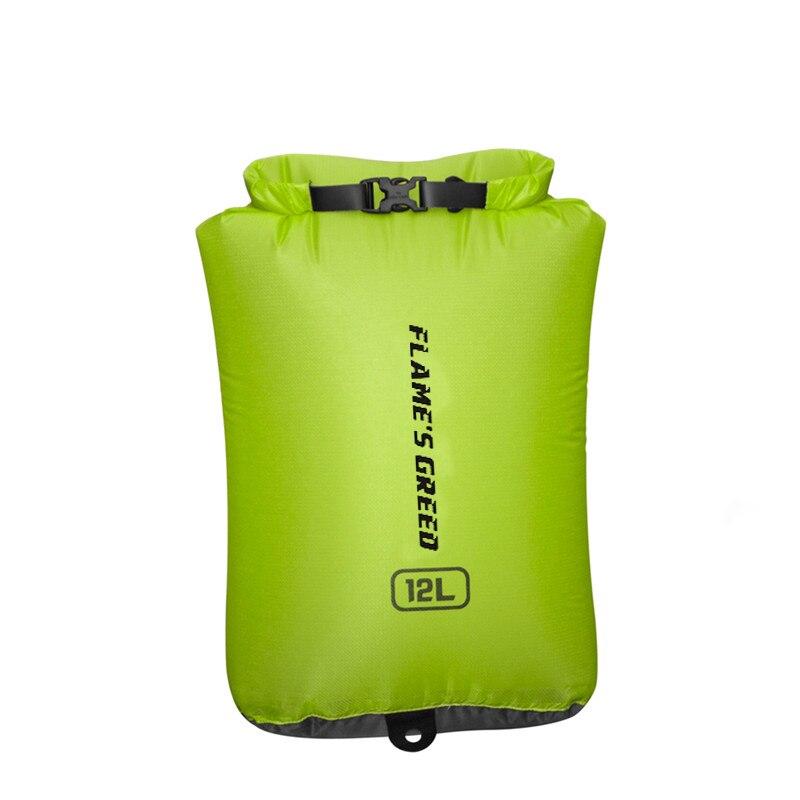 FLAME'S CREED Drifting Bag Waterproof Dry Bag Canoe Kayak Rafting Sports Floating Storage Bags Folding Travel Kits 24L 12L 6L
