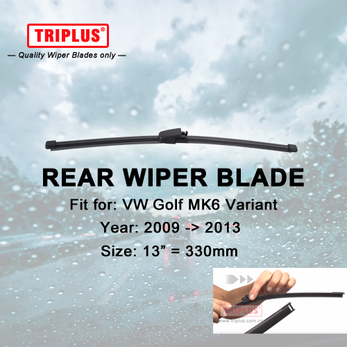 Rear Wiper Blade for VW Golf 6 Variant (2009-2013) 1pc 13 330mm,Car Rear Windscreen Wipers,for Back Windshield Blades