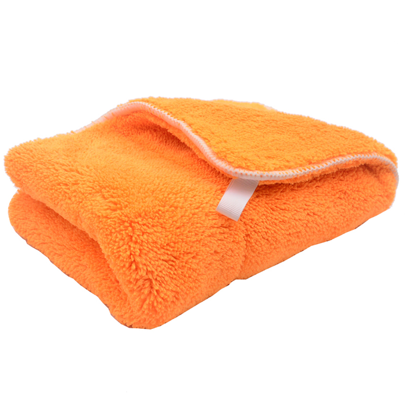Colorful 40cmx30cm 800GSM Super Thick Plush Microfiber Car Cleaning Cloth Car Care Wash Microfibre Wax Polishing Detailing Towel