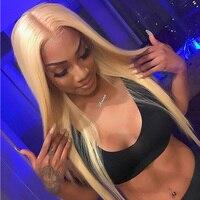 Simbeauty 613 блондинка бразильский шелковистые прямые волосы человека 360 Кружева Фронтальная парик 100% Virgin волос предварительно сорвал 360 парики
