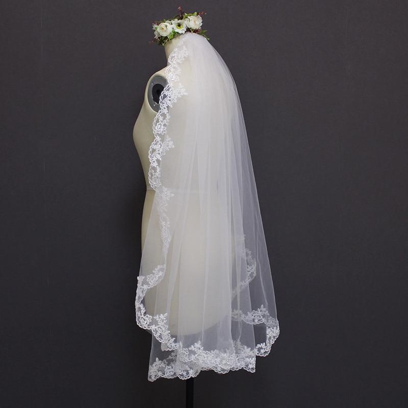 1.2 Μέτρα Lace Edge Ένα Φύλλο Γάμου Επίπεδο - Αξεσουάρ γάμου - Φωτογραφία 2