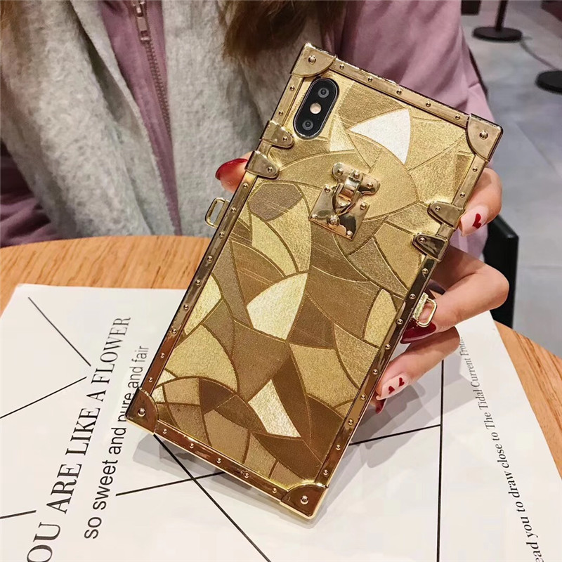 HTB1qIv3aJfvK1RjSspfq6zzXFXaF - Luxury Square Gold glitter case for Samsung S10 Plus S9 S8 3D high quality soft cover for iphone 11 Pro X XR XS MAX 6 7 8 coque