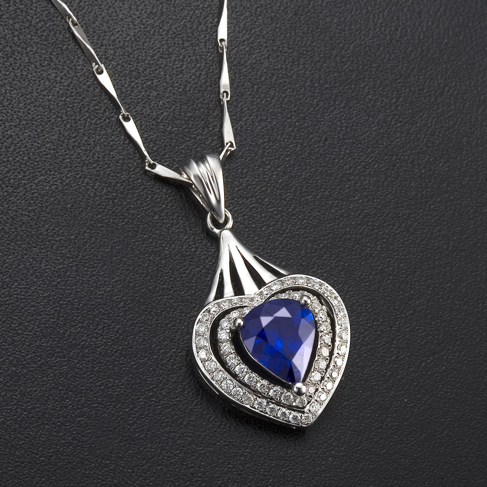 Heart jewelry gvbori natural sapphire gemstone diamond pendant heart jewelry gvbori natural sapphire gemstone diamond pendant diamond pendant big chain necklacefor women wedding fine jewelry in pendants from jewelry aloadofball Gallery