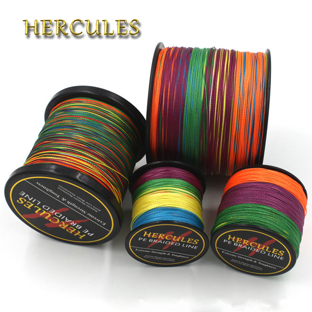 4 Strands Multicolor 100M 300M 500M 1000M 1500M 2000M PE Braided Fishing Line Sea Saltwater Fishing Super Strong