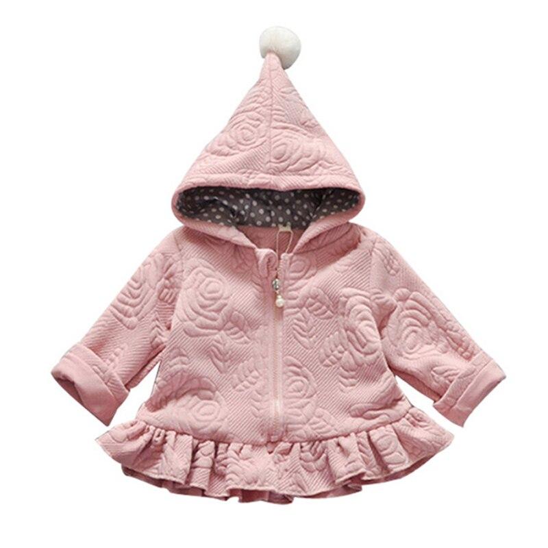 US $10.85 53% OFF|Dziewczynek kurtka noworodka jesienne topy dzieci ciepły płaszcz niemowlę ucha bluzy bawełna bebe odzież wierzchnia dzieci odzież