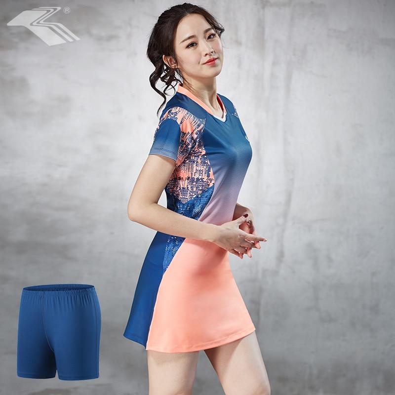 ba6829b7a10b Summer Badminton Clothing Tennis Dress Quick Dry with Safety Short Women  Sport Dress image