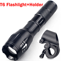 3800LM LED Flashlight CREE XML T6 LED Headlight Front Bike Bicycle HeadLamp Waterproof Head Light + Torch Holder ZK93