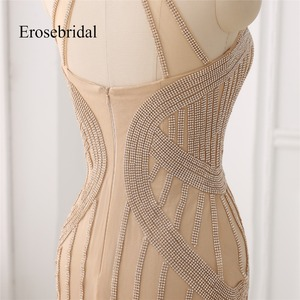 Image 5 - Elegant Long Evening Dress 2019 New Mermaid Beading Evening Gown Halter Color robe de soiree In Stock 48 Hour Shipping ZC6 2