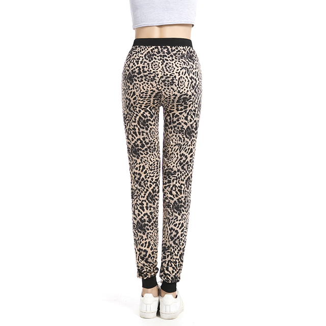 New arrival Girls Leopard Pant Jogger Women  Ankle-Length Pant With pocket Drawstring American Original order 8520
