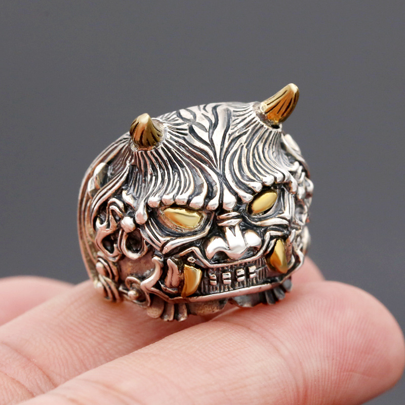 Здесь продается   925silver  Personality with copper double wide Angle, the mythical wild animal domineering man version of fashion rings  Ювелирные изделия и часы