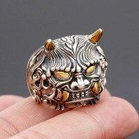 925 de La Personalidad de plata con cobre doble gran Angular, el animal salvaje mítico hombre dominante versión de anillos de moda