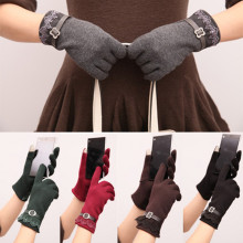 Free Shipping Fashion Ladies Touch Screen Gloves Smartphone Texting Stretch Adult Winter Warm 5 Color