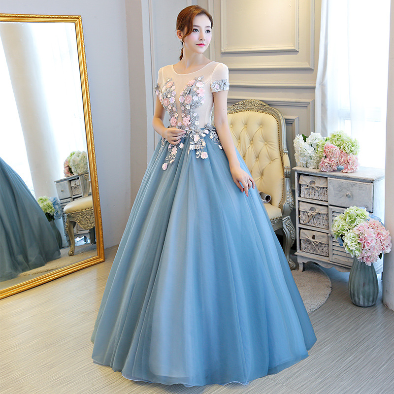 Aliexpress.com : Buy It\'s Yiiya O neck Floor length Colorful Wedding ...