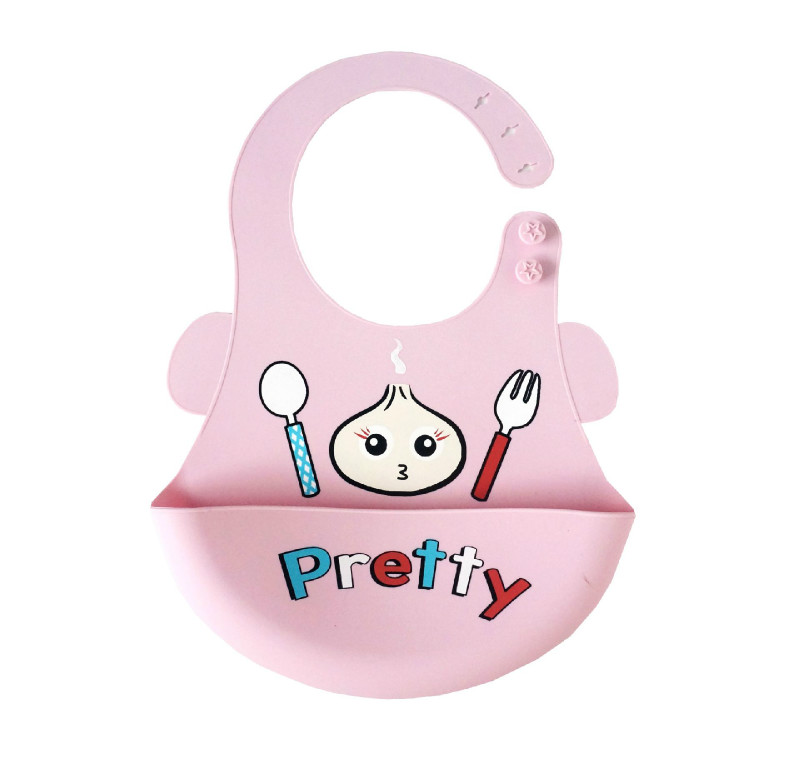 Cartoon Prints Kids Silicon Bib Baby Bib Childrens summer Adjustable Waterproof Bib Baby Feeding Tools Boy Girl Bibs apron