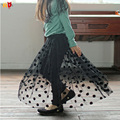 AD Dots Mesh Girls Legging-skirts Chic Baby Girls Skirts for Spring Autumn Quality Kids Clothes Children's Clothing