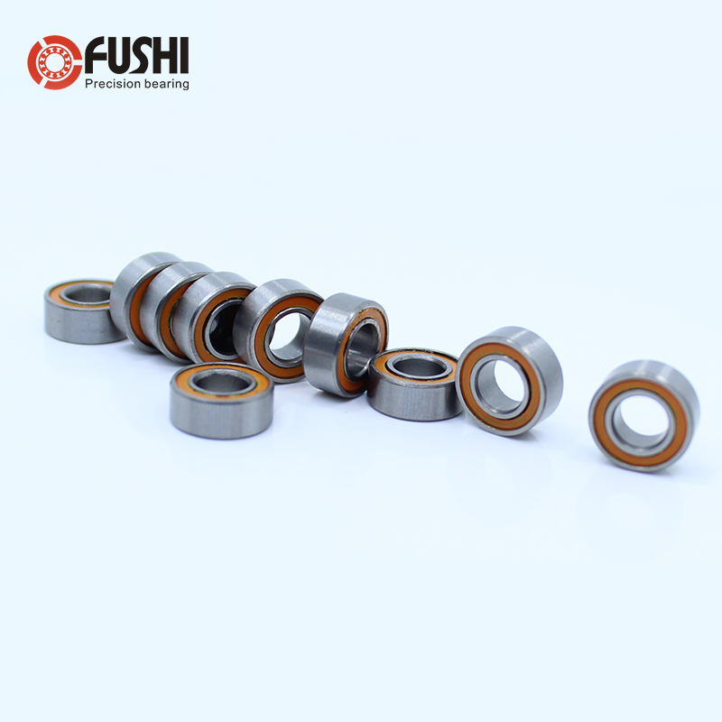MR105RS Bearing ABEC-3 ( 10PCS ) 5X10X4 Mm Miniature RC Motor MR105-2RS Ball Bearings MR105 RS 2RS Orange Sealed