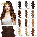 Brazilian Clip in Human Hair Extension Body Wave Clip Ins for Black Women 7/8 pieces set Brazilian Virgin Hair Clip In Extension