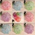 """Frete grátis, 23 """"Dia Criança Crianças Flower Girl Parasol Handmade Sequins Lace Pano Sun Parasol Umbrella 6 cores a escolha UM01"""