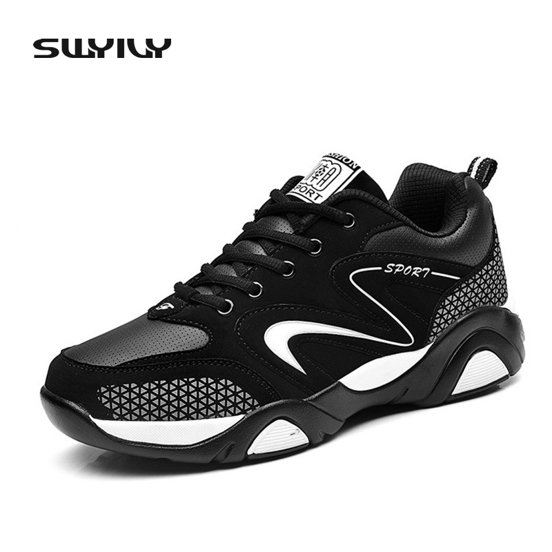 SWYIVY Men Running Shoes Outdoor Sports Shoes Men Athletic Shoes Breathable Lightweight Sneakers Fast Walking Jogging Shoes men running shoes breathable summer spring leather walking sports shoes lightweight trainers athletic sneakers m41108