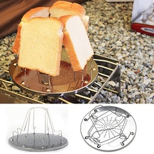 Foldable 4 Slice Camping Bread Toast Tray Gas Stoves Cooker BBQ Camping Toaster Rack Outdoor Camping