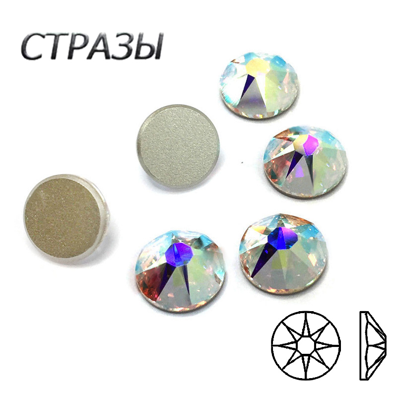 8mm round glass crystal faceted jewelry making rhinestone gold cup connector sew