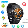 S99A 3 Г Smart watch Android 5.1 OS 360*360 Полный круглый экран 512 МБ/8 ГБ наручные Поддержка сим-карты wi-fi камера Google Voice