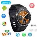 S99a 3g smart watch tela android 5.1 os 360*360 rodada completa 512 mb/8 gb relógio de pulso apoio cartão sim wifi câmera google voice