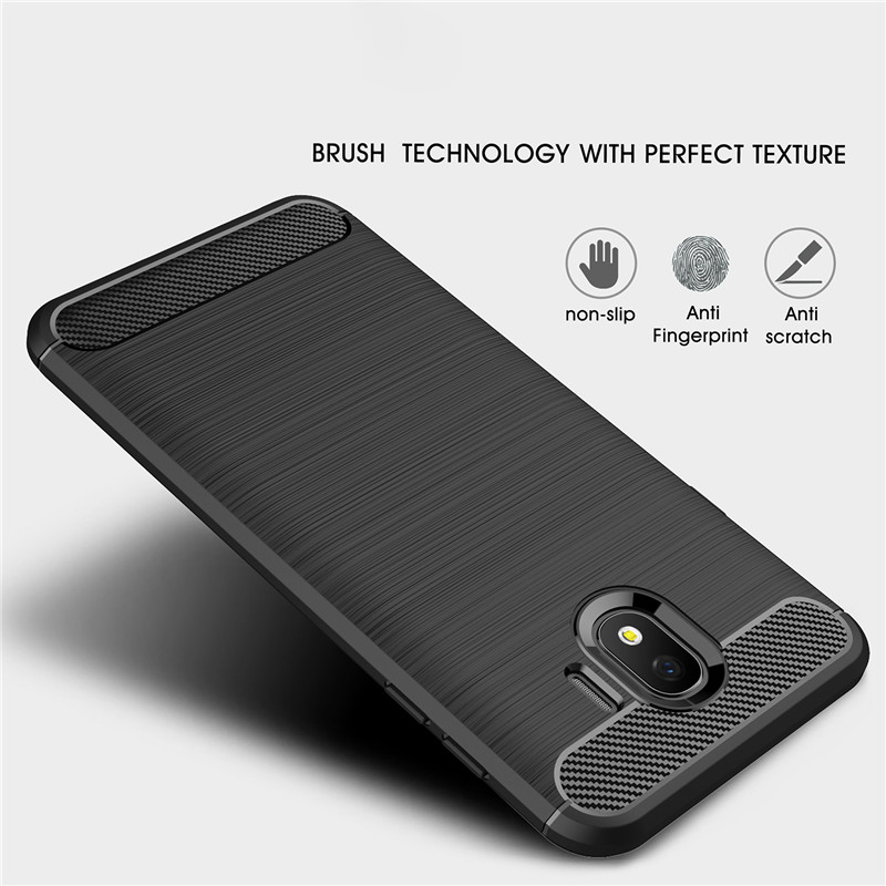 Fitur Armor Carbon Tpu Soft Case Cover Samsung Galaxy J4 2018 Dan