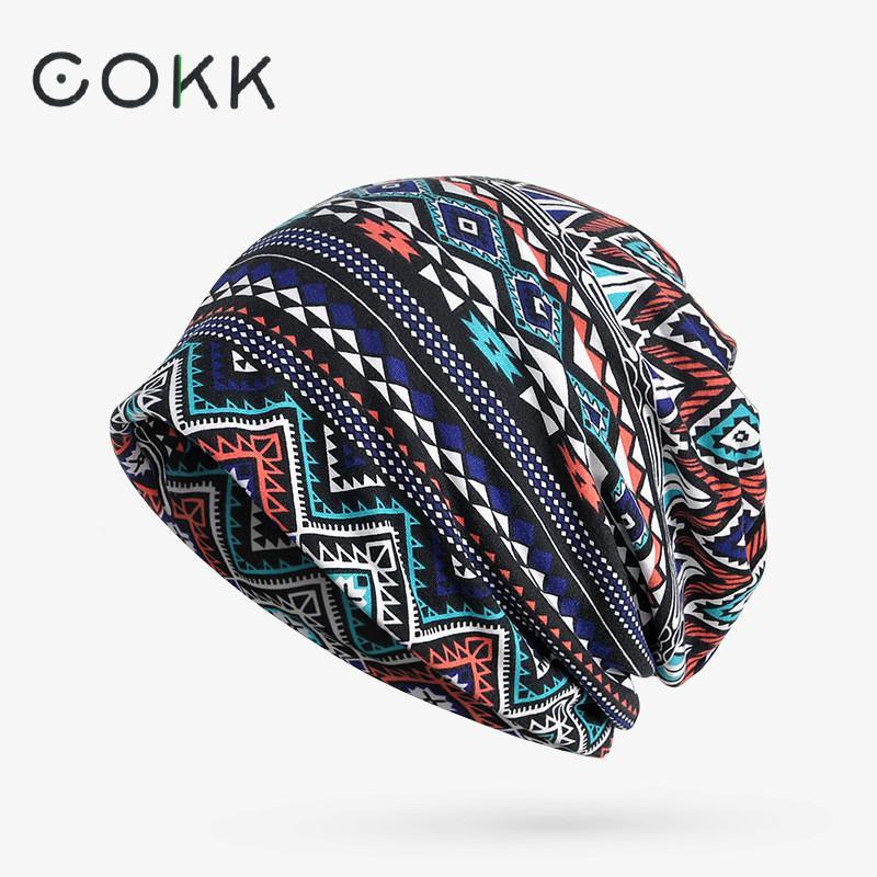 COKK Turban Hat Female Women's Winter Hats For Men Skullies Beanies Plaid Pattern Winter Beanie Bonnet Femme Gorros Knitted Cap