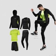 Nuevo verano correr hombres traje de deportes gimnasio ropa de compresión  de baloncesto Jogging entrenamiento ropa 88fb040556d4