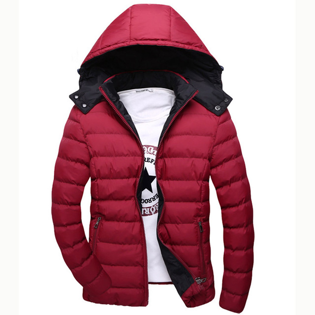 BIG Size 5XL Men Warm Fashion Parkas 2015 New Winter Windproof Coats Nylon Outerwear Man Coats Jackets